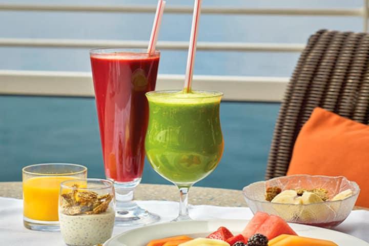 Bebidas veganas. Imagen; Crucero Oceanía. Archivo