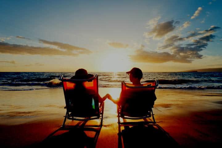 mar al cielo romantico foto archivo