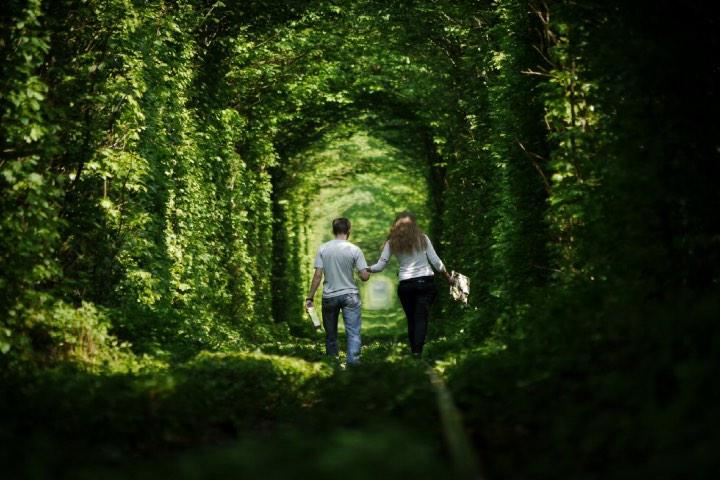 El túnel del amor en Ucrania. Foto: El Viajero - El País