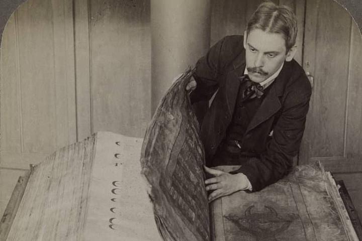 La Biblia del diablo en Suecia. Foto: Archivo.