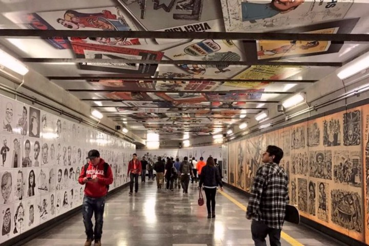 Museo de Caricatura en la estación del Metro Zapata. Foto_ MXcity