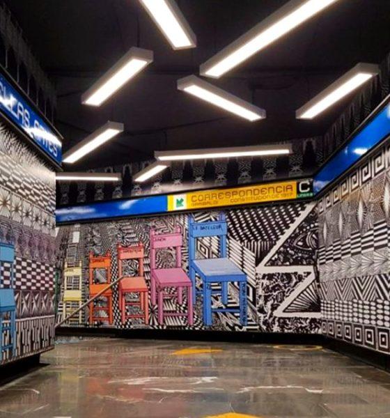 Obras de arte en el metro de la CDMX. Foto_ MXcity