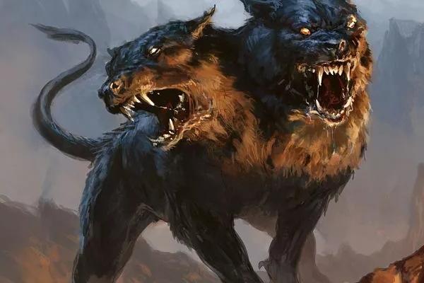 Perro de dos cabezas. Imagen: Mitología Gurú.