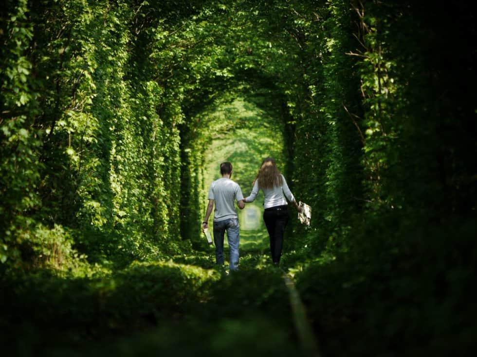 El túnel del amor en Ucrania. Foto: Archivo