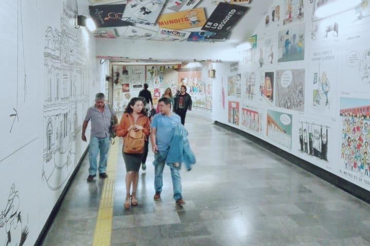 Obras de arte en el metro de la CDMX. Foto: Archivo.