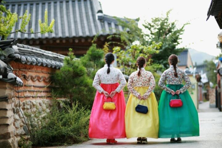 Aquí se ve el folklore coreano. Foto: Archivo