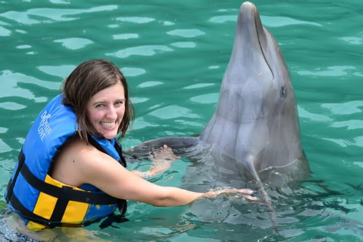 Nadar con delfines. Foto: Archivo.
