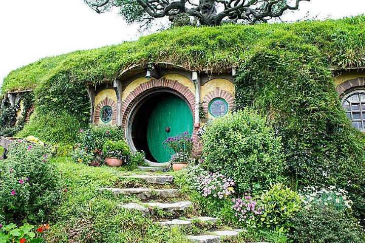 Casa de los hobbit. Foto_ La voz.
