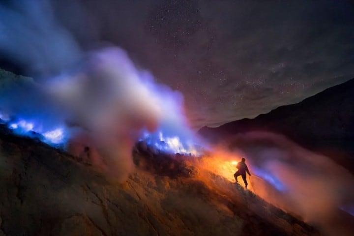 Es impresionante, Kawah Ijen. Foto: Nithiruj Suthimeteeroj.