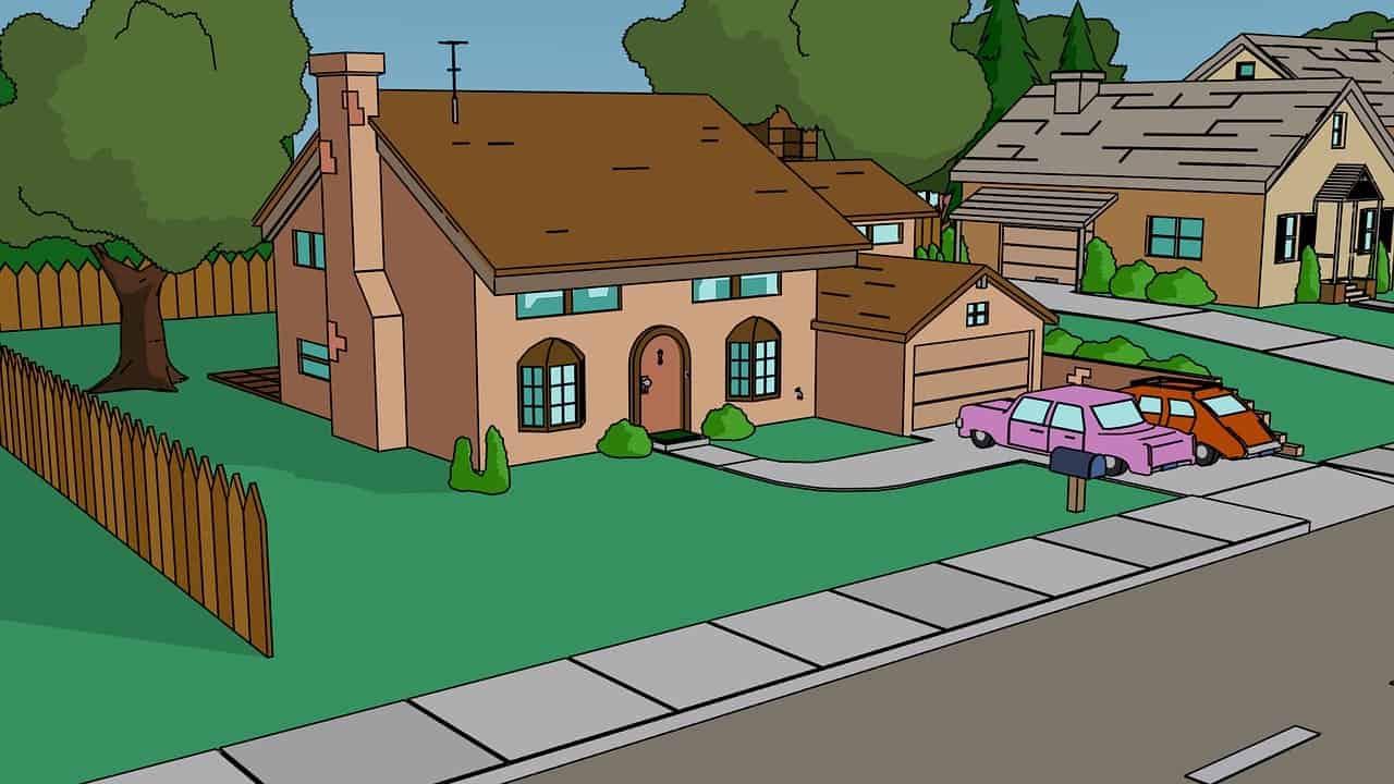 Casas de caricatura, Los Simpsons