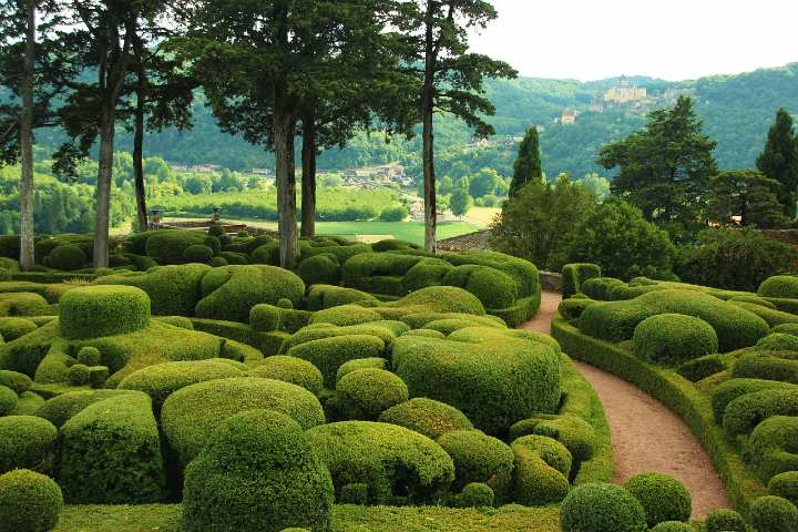 Los románticos jardines de Marqueyssac. Foto Garnoteldelphine