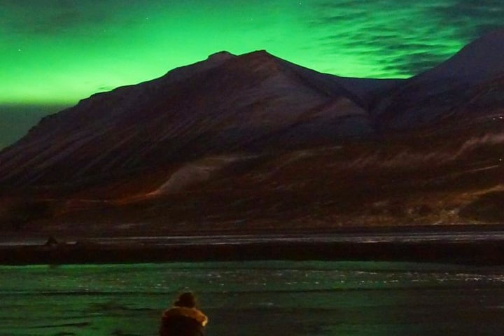 Aurora boreal en Svalbard