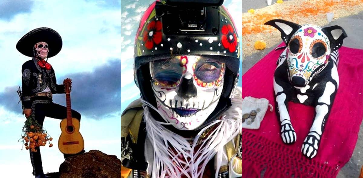 dia de muertos collage