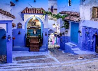 Ciudades colores Chefchaouen Foto Richard Murrin