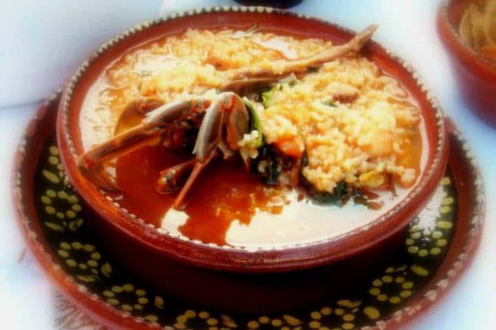 Delicias del mar Arroz a la Tumbada Foto Leyendas y costumbres de México