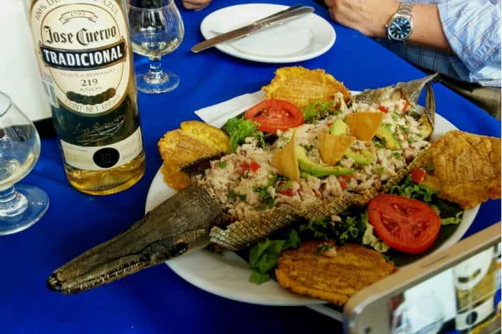 Delicias del mar Pejelagarto Foto El Souvenir