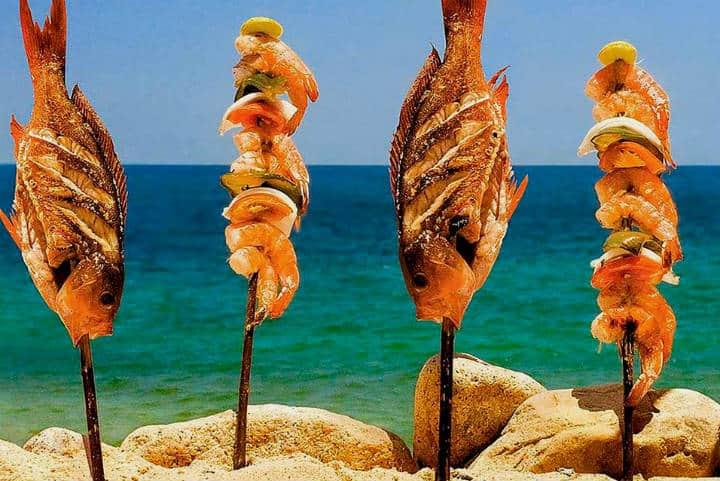 Delicias del mar Pescado embarazado Foto Viridiana Germán