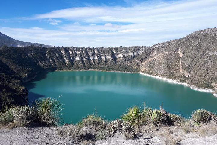 PC Estatal Puebla Foto: Laguna Alchichica en Puebla