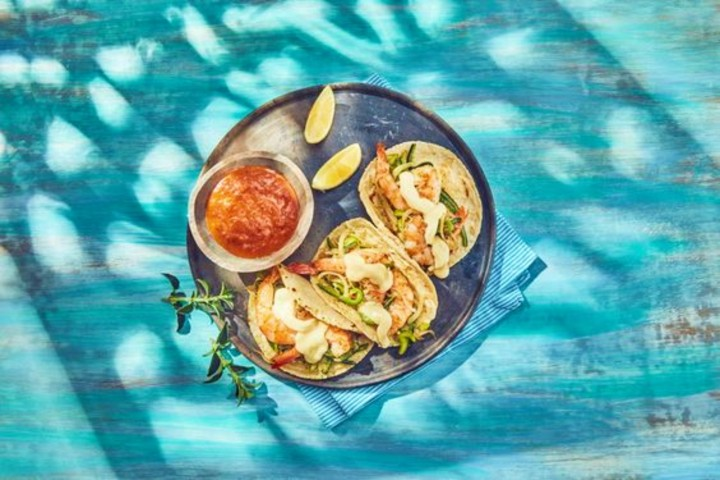 Tacos Gobernador. Foto Recetas Nestlé