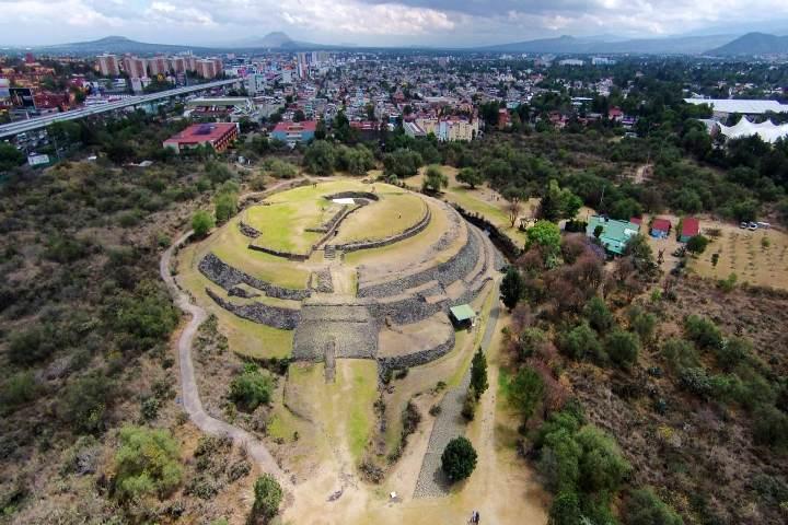 Zona Arqueológica Cuicuilco. Foto Diadelosmuseos.