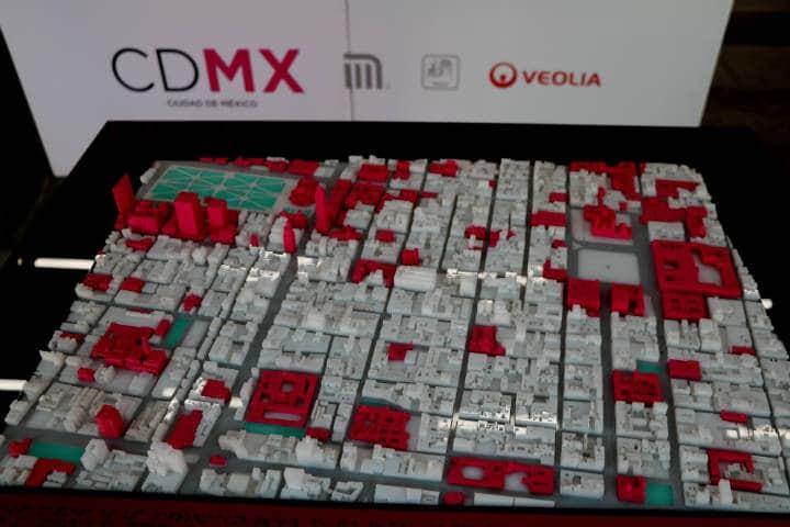 Maqueta de la CDMX Foto El Souvenir