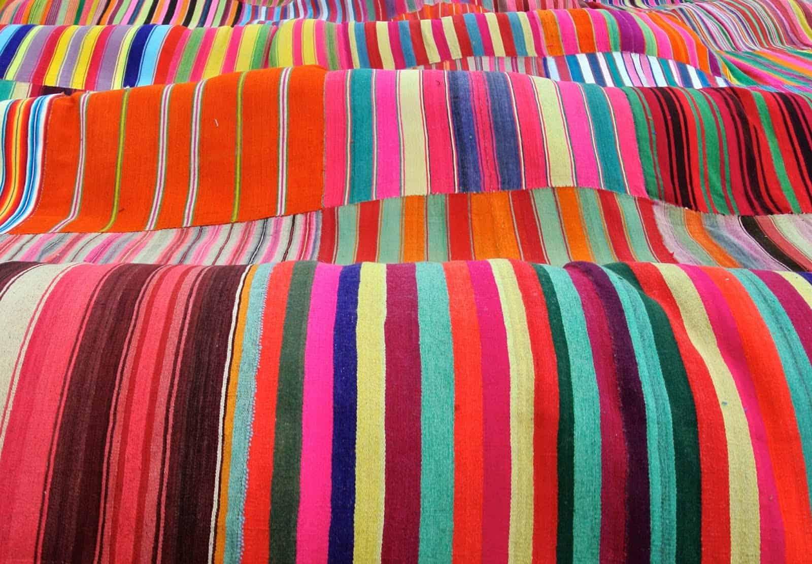 Los hermoso textiles de Bolivia