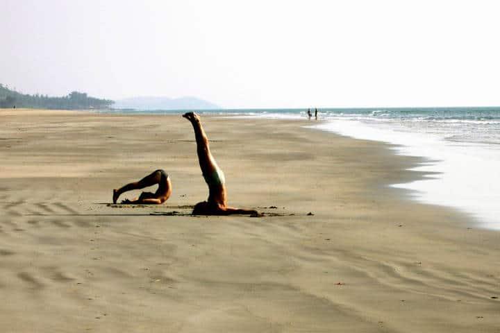 Playas para practicar yoga