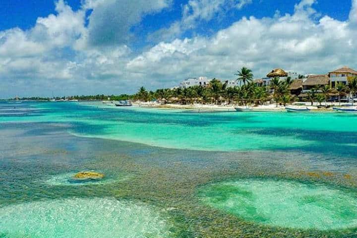 Costa Maya Mahahual Foto Palmeras Cabañas