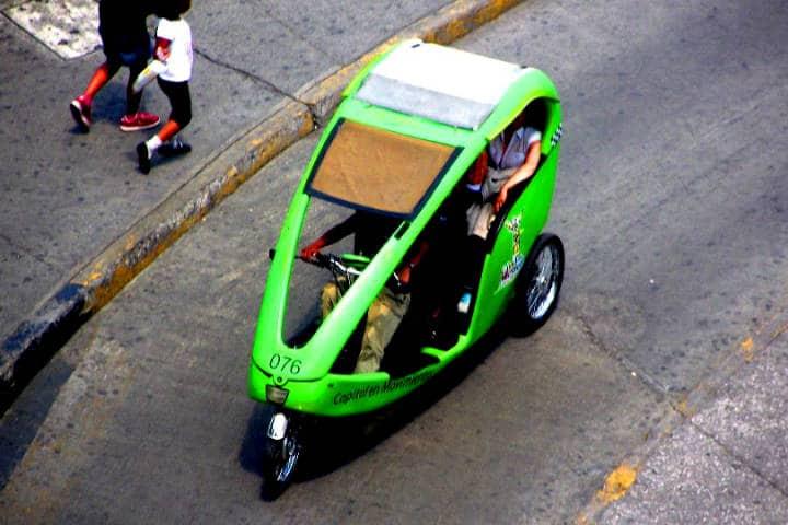 Transportes curiosos Bicitaxis Foto Y ahora qué hago CDMX