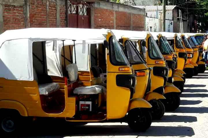 Transportes curiosos Mototaxis Foto Oaxaca