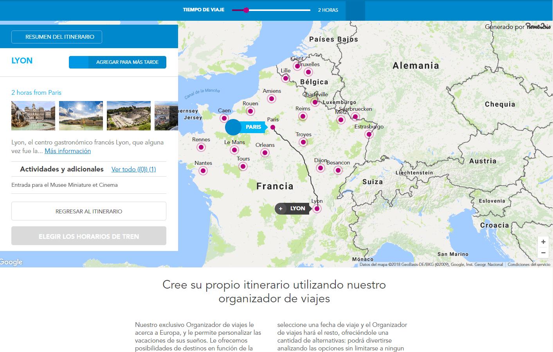 03 Nueva Página Web – Planificador de Viajes (Trazando ruta París – Lyon)
