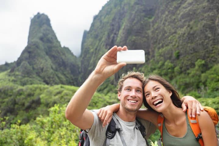selfies de viajes