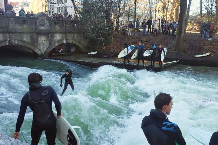 Surfistas en Múnich