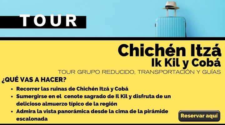 Tour en grupo reducido a Chichén Itzá Ik Kil y Cobá. Arte El Souvenir