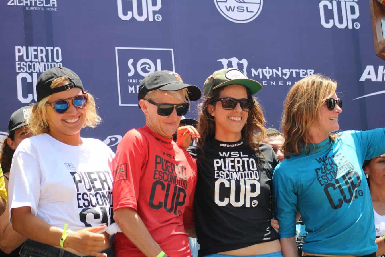 Surf en Puerto Escondido Cup 2018 podium mujeres