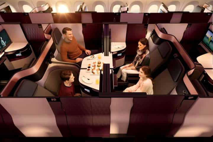 Business Class Qatar Airways Foto QA 6