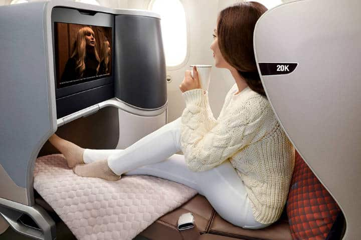 Business Class Singapur Airlines A380 Foto SA