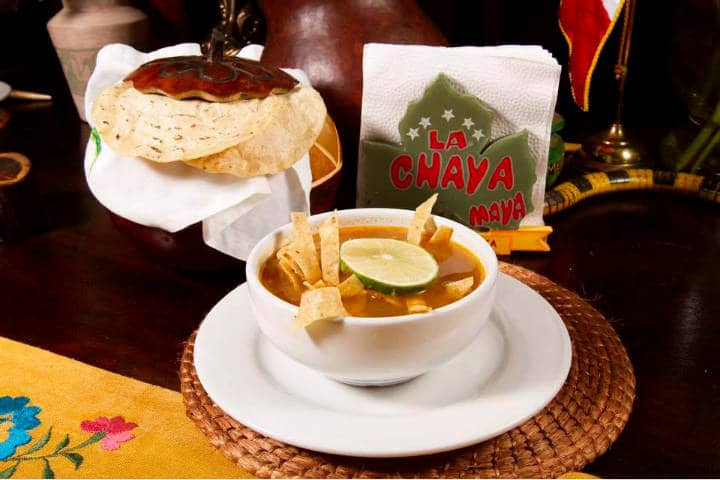 Comida Yucateca La Chaya Maya Sopa de Lima