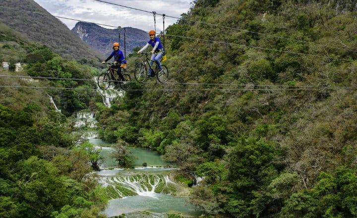 Tirolesa cascada micos san luis potosi