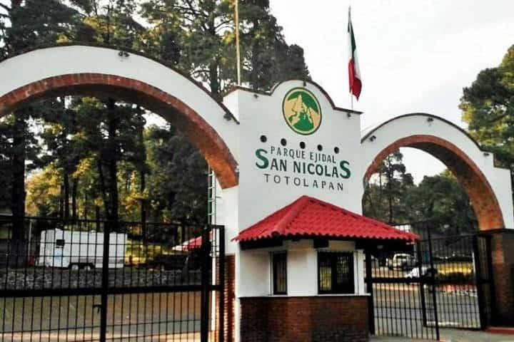 Campamento cerca CDMX Foto Parque Ejidal San Nicolás Totoloapan 3