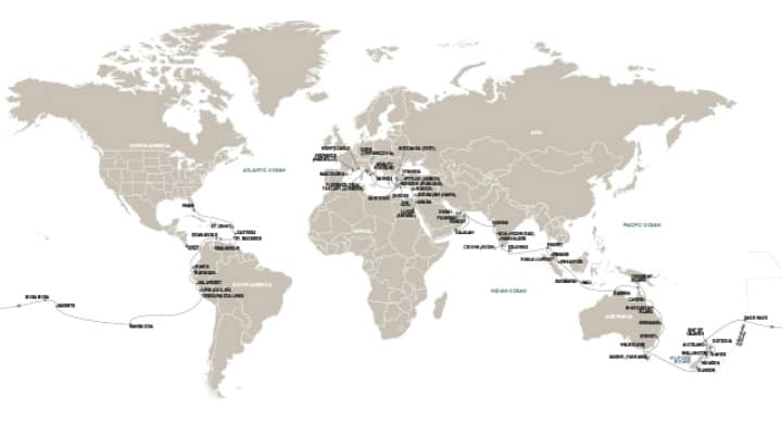 Crucero alrededor del mundo Mapa Foto RSSC