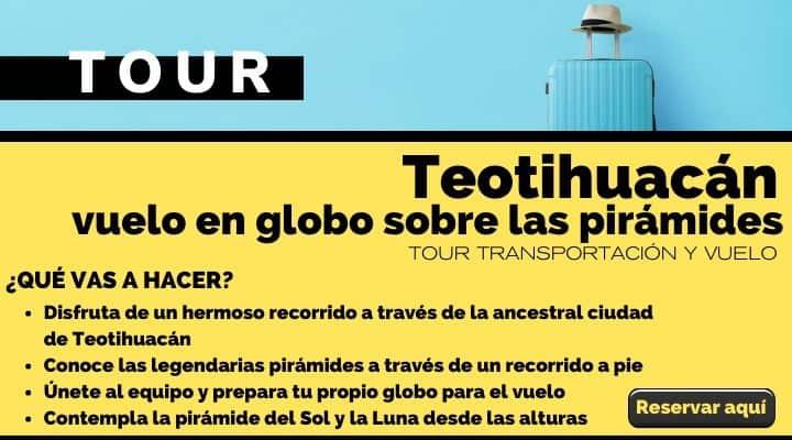 Tour Vuelo en globo sobre las pirámides de Teotihuacán. Arte El souvenir
