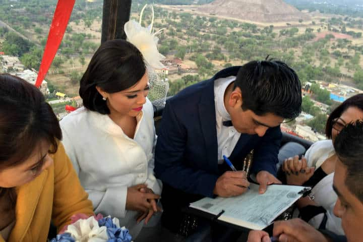 Casarse Vuelo en Globo para dos Foto Viridiana V Skyballoons 2