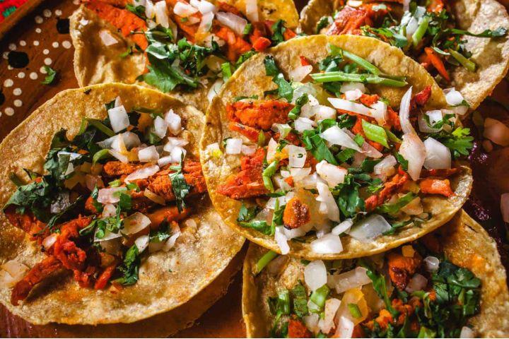 Comida Mexicana Foto: Tacos tradicionales de México