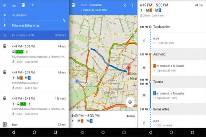 horarios google maps