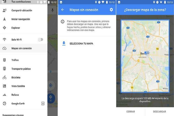 maps sin conexion