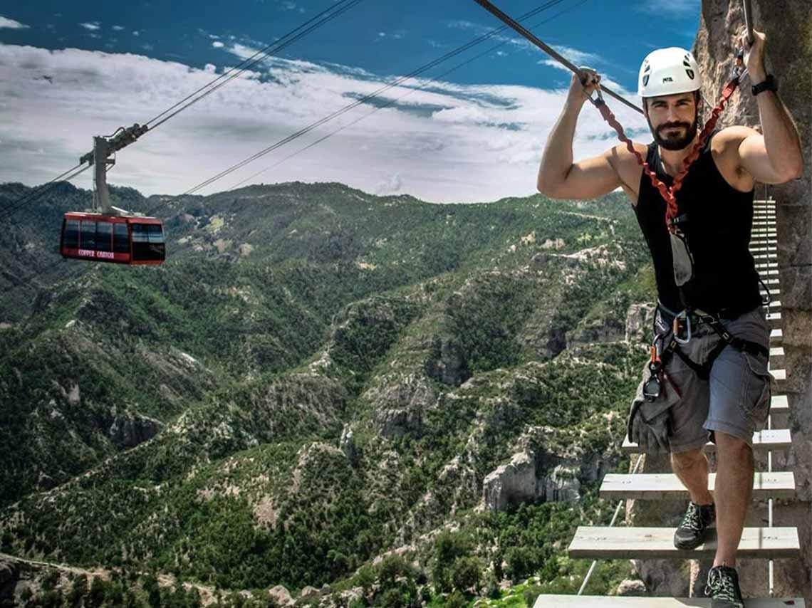 Lánzate a ésta aventura de extrema adrenalina, te va a encantar el parque Barrancas del Cobre. Foto: Donde ir