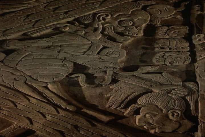 Fragamento del Mural de los Cuatro Soles. Foto Felipe MejiaValderrama