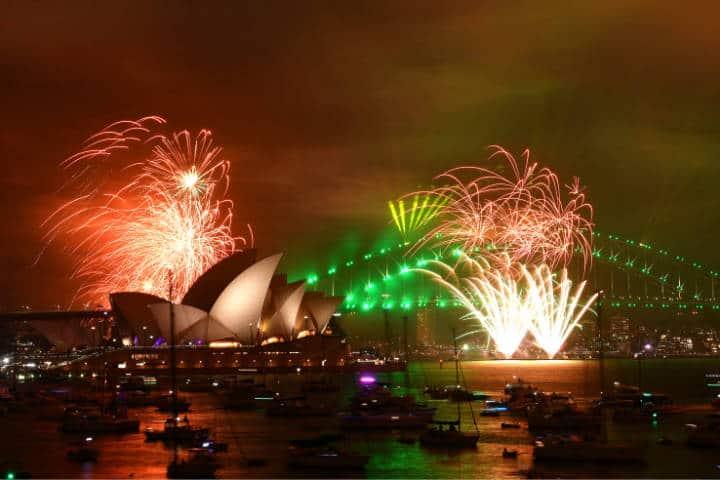 Países que reciben primero año nuevo Foto Subrayado