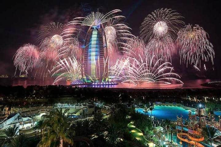 Año Nuevo en Dubái. Foto Aswan tours